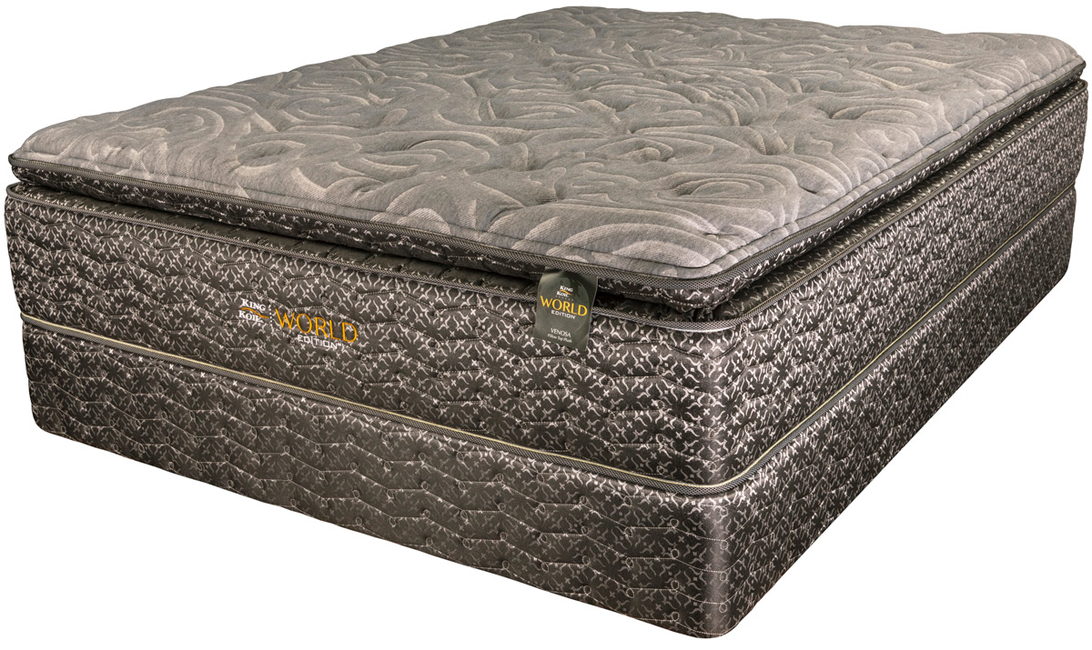king koil venosa pillow top bed pros mattress. Black Bedroom Furniture Sets. Home Design Ideas