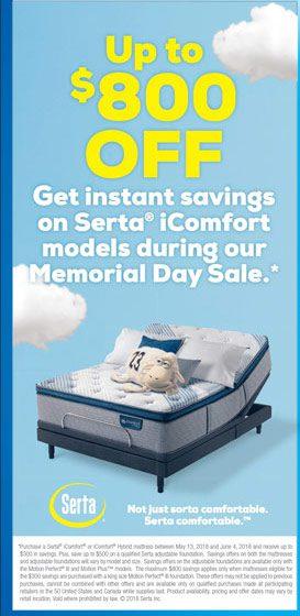 Serta Memorial Day Mattress Sale